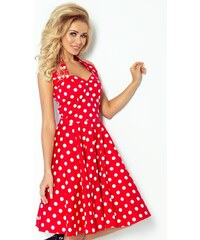 8a4aecb44679 Červené bodkované šaty Numoco 30-12