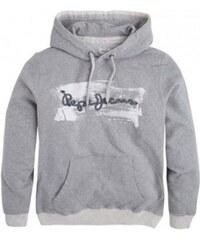 Pánská šedá mikina s kapucí Pepe Jeans BACURI 41b2086eee3