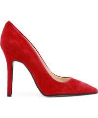 b45ffce2277 Červené Dámske topánky na vysokom podpätku