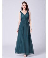 Ever Pretty luxusní dlouhé šaty temně zelené 7458 e019ad7c06