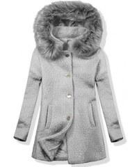 Trendovo Vlnený jesenný kabát 1950 tmavosivá šedá ddd0f1a6444