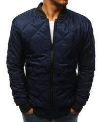 Pánská jarní podzimní bunda Rekat tmavě modrá - modrá 0db1147b0bc