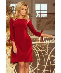 Strikingstyle 195-3 ALICE šaty s mašľami   bordové 436dfb5e351