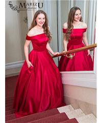 Marizu fashion krásné vínově červené saténové maturitní c53f4e4b4d8