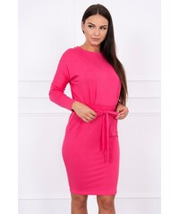 8adf50e4b996 MladaModa Obtiahnuté šaty s viazankou v páse model 8925 farba ...