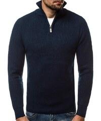 Tmavě modrý svetr v pleteném designu HR 1811 527b5a3e8a