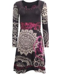 8cd22c2ea7f3 Černé šaty s fialovými flitry Desigual