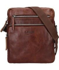 dc687e0dc2 Pánská kožená taška přes rameno Lagen Boris - hnědá