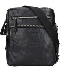 70d6b67a82 Pánská kožená taška přes rameno Lagen Boris - černá