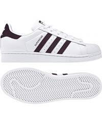 7a390a1fa221 Dámske tenisky adidas Originals SUPERSTAR W (Biela   Burgundy   Strieborná)