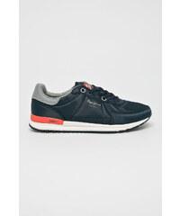 Tmavě modré pánské boty  47bd903074