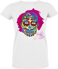 d50da20445d2 Dámske tričko s krátkým rukávom KlokArt Lebka