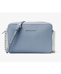 Michael Kors Jet Set Travel Large Saffiano Leather Crossbody Pale Blue 4c1a1c501de