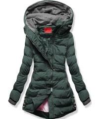 ead60ef77a MODOVO Dámska zimná bunda s kapucňou S603 khaki