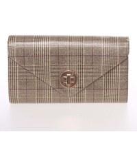 Moderná kockovaná zlato-čierna listová kabelka - Delami L067 zlatá 8e64ea9a21d