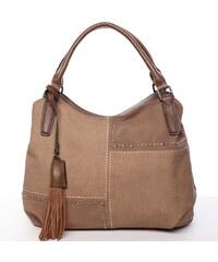 Elegantní dámská kabelka do ruky hnědá - MARIA C Galilea hnědá 18e8ec92e4e