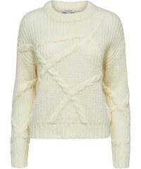 2cb9878ae251 Krémový melírovaný sveter s prímesou vlny Selected Femme Enva - Glami.sk