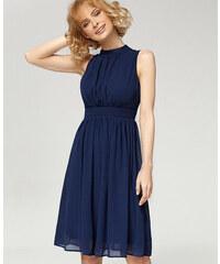 Misfit London Swingové šaty Elizabeth protkané modrou elegancí 4edf8a5282