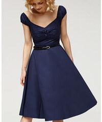 f70a7029b834 Misfit London Modré Swingové Vintage šaty Marilyn