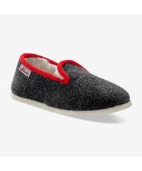 Blancheporte Dvoubarevné papuče s vlněnou podšívkou antracitová 13bee5fec2