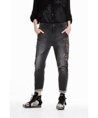 55bc409c384 jeansy Desigual Alysa denim light grey