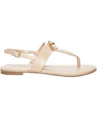 ff5fd22a97 Guess Dámske sandále Factory Women`s Darryl T- Strap Sandals Tan