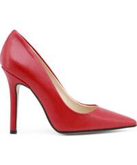 9570fcdee815 Červené Dámske topánky na vysokom podpätku