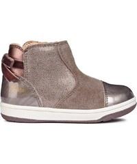 Geox Dívčí kotníkové boty New Flick - hnědo-šedé b78c453c99
