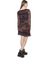 Desigual Dámské šaty Vest Surat Negro 18WWVK19 2000 - Glami.cz 3b0b258cdc9