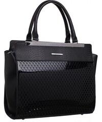 Luxusní černé lakované kožené kabelky 30809 PC01 PL01 Tamara Wojewodzic 9487bbe7c3a