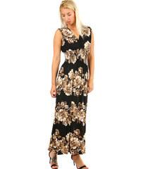 TopMode Dámské letní plážové šaty se vzorem (hnědá 63738ffb41