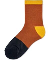 5c22ec0358f Dámské oranžovo-černé ponožky Happy Socks Liza    kolekce Hysteria-39-41
