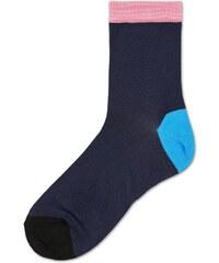 Dámské tmavě modré ponožky Happy Socks Grace I    kolekce Hysteria-39-41 5472db433a