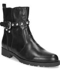 06f5041ace84 Baťa Čierne kožené čižmy s kovovými cvočkami