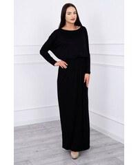 MladaModa Dlhé koktejlové šaty model 62250 čierne f21e68a163d