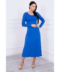 MladaModa Šaty model 62245 s oblým výstrihom a vreckami farba kráľovská  modrá 307df4f5655
