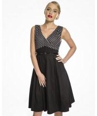 8c4d7d70eb6 Dámské retro šaty Lindy Bop Valerie černé Lindy Bop 8064