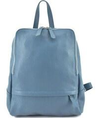 56f85cabad68 Dámský kožený batoh Arteddy - světle modrá