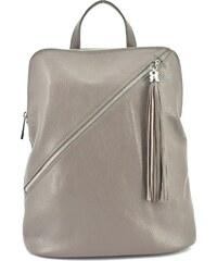 Dámský kožený batoh a kabelka v jednom  Arteddy - taupe c74800d4cda
