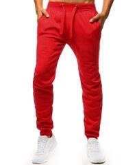 d8f3f778cff Brand Jednofarebné pánske tepláky (ux1294) - červené ux1294