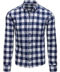 1209545c2e93 Brand Pánska károvaná košeľa (dx1518) - tmavo modro-biela dx1518