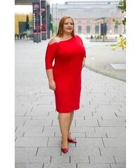 8004a320673a Krásné šaty Ryan Bellazu se stříbrným ramínkem červené