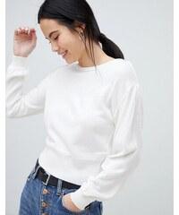 de028f69eee ASOS DESIGN jumper in off shoulder shape in fine knit - White