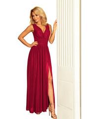 9564230007ba NUMOCO Dámske dlhé červené šaty 166-6