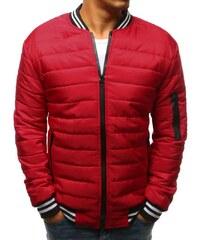Manstyle Pánska STYLE bunda prešívaná bomber jacket červená 09c925442a7