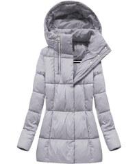 Libland Sivá dámska zimná bunda 7750BIG 113fc12b81f