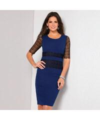 37698421973a VENCA Šaty s čipkovými krátkymi rukávmi kráľovsky modrá 38