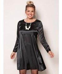 b6868a03b3d3 Venca Jednobarevné šaty s dlouhými rukávy černá