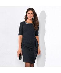 a53f01979f91 VENCA Krátke šaty s čipkovou vsadkou a 3  4rukávy čierna 38
