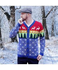 416aba055bf Svetr s jelenem vánoční svetr   kardigan   zimní les